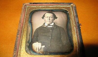 1/6th Plate 1850s Daguerreotype of a Distinguished Gentleman