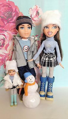 Bratz Wintertime Wonderland Dana and Koby Dolls With Original Clothes and Shoes