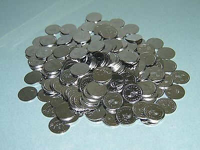 200 Brand New Stainless 1/2 Dollar Size Slot Machine Tokens -  30Pai    30Mm