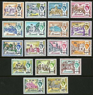 Bermuda  1970  Scott #238-254  Mint Hinged Set