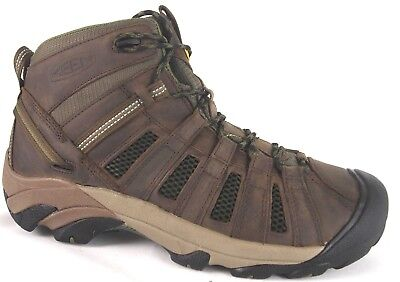 Keen Voyageur Mid Dark Earth/ Burnt Olive 1010128 Hiking Boots--Special