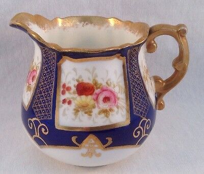 Hammersley China England Pattern # 12854 Creamer Cobalt Gold Flowers
