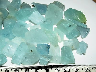 25g AQUA BLUE AQUAMARINE rough NATURAL CRYSTAL GEMSTONE LOTS