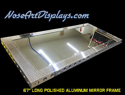 "67"" Polished Aluminum Mirror Frame w/ 700  rivets"