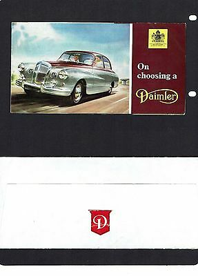 Daimler: two small brochures from the 1960's