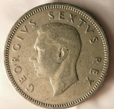 South Africa, 1950 George VI 1 Shillings! Low Mintage!