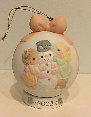 "PRECIOUS MOMENTS ""Ic-y Potential In You"" 2003 Ornament Ball 112875 MINT IN BOX"