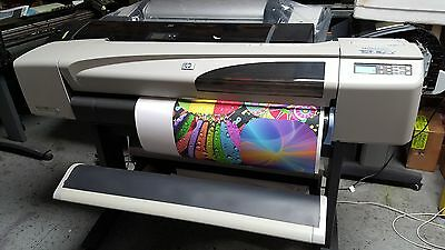 """HP DESIGNJET 500PS PLOTTER 42"""" Stand, NEW Set of INK & Printheads 1year WARRANTY"""