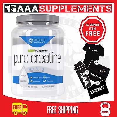 INTEGRATED SUPPLEMENTS - PURE CREATINE (1KG) creapure creatine monohydrate