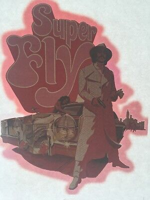SUPER FLY MOVIE VINTAGE 1970's IRON-ON/TRANSFER