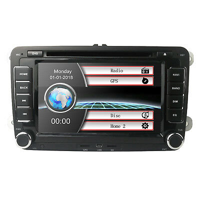 2 DIN Car DVD for VW JETTA GOLF MK5 GPS Navigation Radio USB/SD PC country map