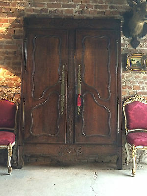 Antique French Armoire Frontage Screen Victorian 19th Century Solid Oak 1872