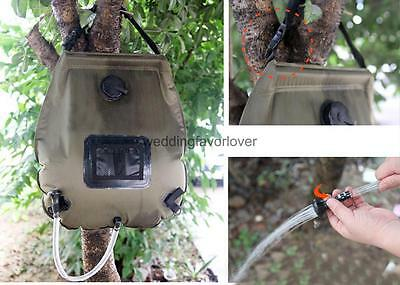 Portable Large Capacity 20L Solar Self Heating Camping Shower Bag Water Pipe