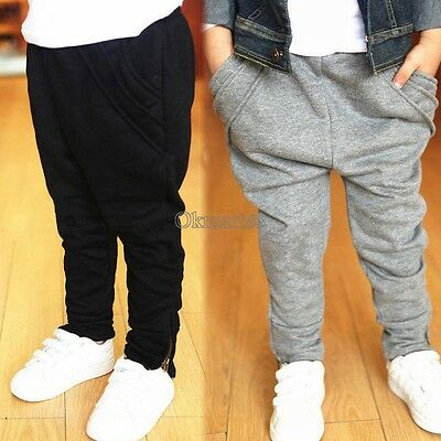 Toddler Kid Boy Girls Sport Casual Pants Straight Trousers 3-11 Y Baby OK