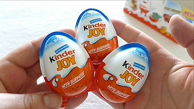 6 X *bOYS* - Chocolate Kinder Joy Surprise Eggs Giift Inside Kids Fun Party