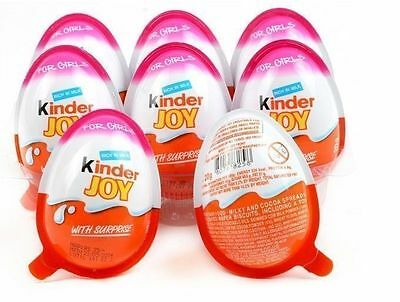 6 X *Girls* - Chocolate Kinder Joy Surprise Eggs Giift Inside Kids Fun Party