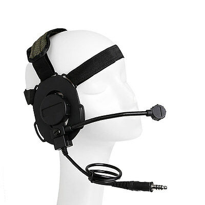 New Z Tactical Headphone Headset Style Military HD-03 Airsoft Mic Radio Adjust