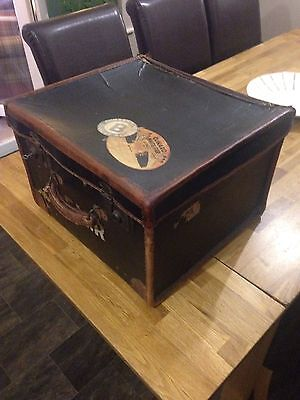 Square Steamer Trunk / Hat Box