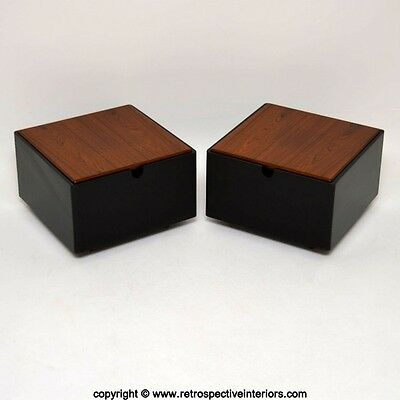 PAIR OF RETRO ROSEWOOD SIDE / COFFEE TABLES VINTAGE 1960's