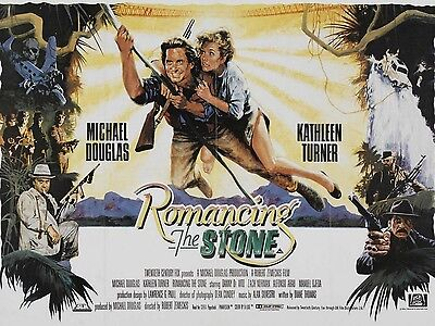 """Romancing the Stone 16"""" x 12"""" Reproduction Movie Poster Photograph"""