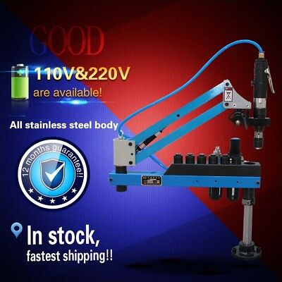 Universal Flexible Arm Pneumatic Air Tapping Machine 360°Angle 1000mm M3-M12