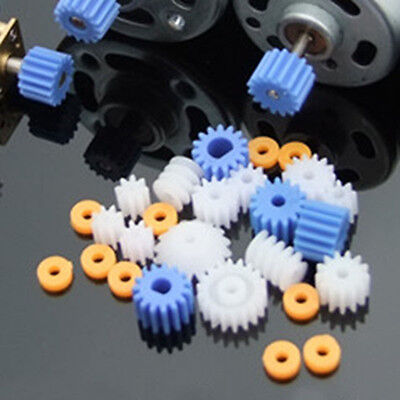 Mini  Worm Crown Plastic Gears Pulley Belt Shaft Robot Motor Gear Set DIY Toy 13