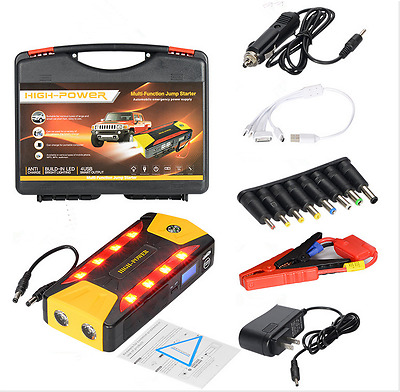 82800mAh Car Jump Starter Portable 12V Power Booster Battery Rescue Torch SOS UK