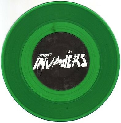 """The Prodigy - Invaders Must Die - New 7"""" GREEN COLOURED Vinyl"""