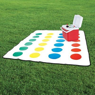 Twister Picnic Blanket Official Retro Game Classic Party Fun Camping Accessory
