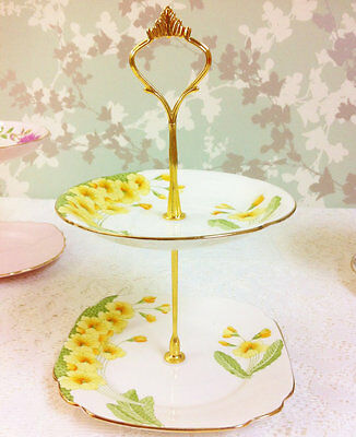 Pretty Primrose 2 Tier Mini Cake Stand