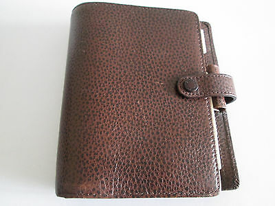 *wow* Filofax Organiser Pocket Size Finsbury Brown Grained Leather