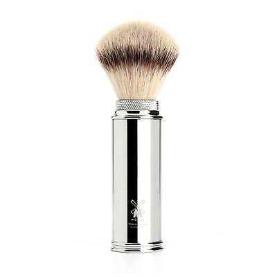 Muhle 31M20 Synthetic Silvertip Fibre Travel Shaving Brush - Chrome Handle