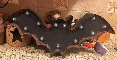 Halloween Led Light Up Bat Battery Operated Halloween Marquee Wall Hanging DECOR