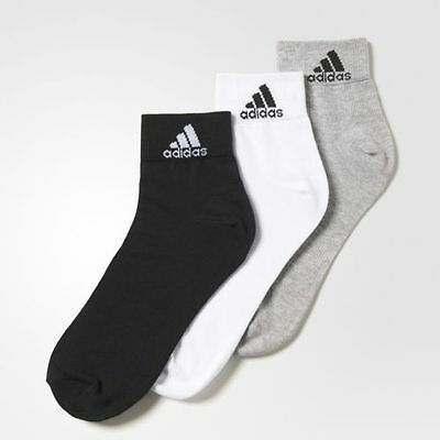Mens Adidas Ankle Lenght Socks Multicoloured (PACK OF 3 )