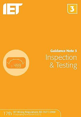 Guidance Note 3: Inspection & Testing (Electrical Regulations) (P. 9781849198738
