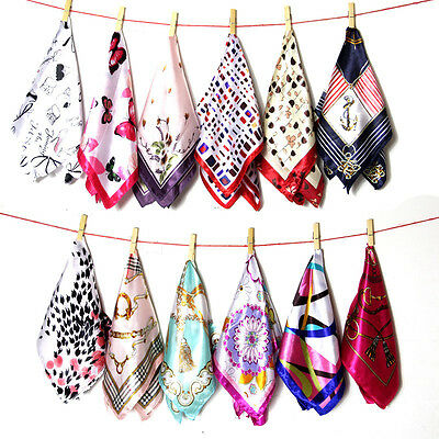 Women Girl Fashion Handkerchiefs Wedding Party Pocket Square Silk Scarf Gifts