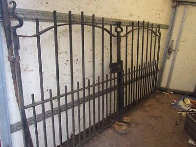 Vintage Cast Iron Steel Metal Double Reclaimed Gates