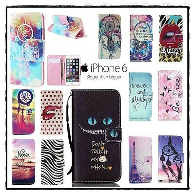 Etui coque housse Porte cartes Cuir PU Leather Wallet Case Cover iphone 6 6s