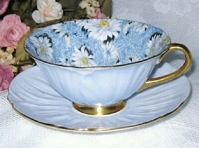 Highly Collectable Shelley Oleander Blue Daisy Cup And Saucer