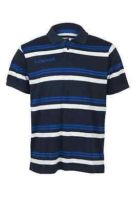 Kooga Yarn Dyed Mens Teamwear/off Field Stripe Rugby Polo Navy Small - 3Xl