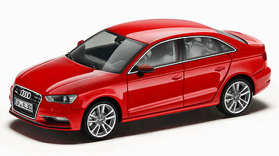 Genuine Audi A3 Saloon 1:43 Scale Model - Misano Red