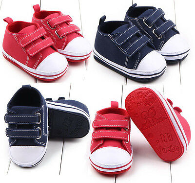 Newborn Baby Canvas Soft Sole Shoes Kids Toddler Boys Girls Shoes Sneakers LOT