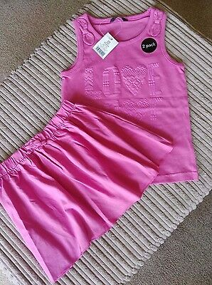 GIRLS  PINK TOP AND MATCHING SKIRT ** Age 4/5 ** NWT *** GEORGE