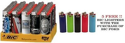 Bic Ford Full Size Lighters 50 Pieces Plus 5 Bic Regular Lighter Wholesale Price