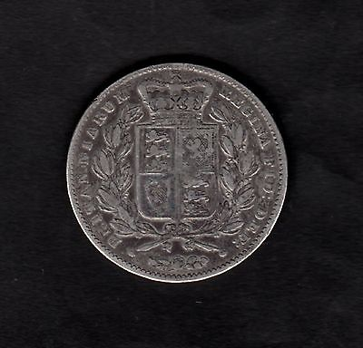 Great Britain 1847 Crown Coin Queen Victoria Young Head