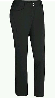 Adidas Womens Golf Trousers Black Size 10 Small Bnwt