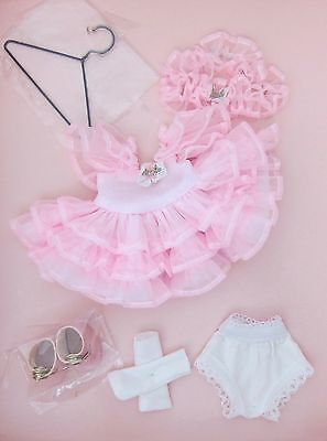 Vogue Ginny Doll Outfit~RUFFLES & ROSES CLOTHING PACK~PINK DRESS,SHOES,PANTY~MIB
