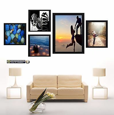 5 Piece Multi Picture Frame Photo Frame Collage Wall Hanging Frame Table Set