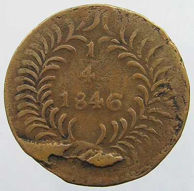 MEXICO 1/4 REAL 1846 CHIHUAHUA   #le 411