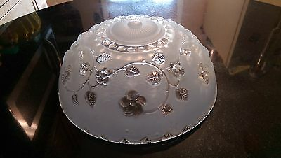 Art Deco Antique 3 Chain Hanging Shade